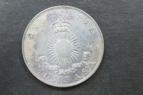 1888 H British East Africa Mombasa One Rupee Coin Choice Unc Toned Rare R1ER