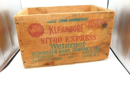 Remington Kleanbore Nitro Express 12 Ga. Vintage Wooden Ammo Box