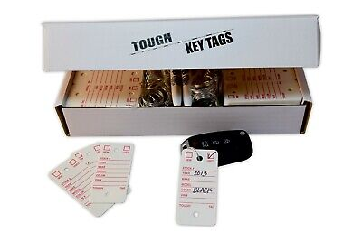 Poly Key Tags Tough Poly Rigidene Style 500 Tags Permanent Markers Rings