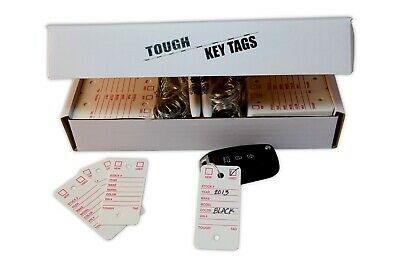 Car Dealer Key Tags Tough Poly Rigidene Style 500 Survivor Ez400 White