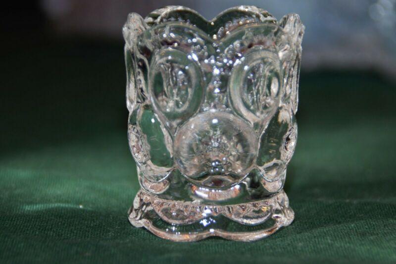 VINTAGE CARNIVAL TOOTHPICK HOLDER GLASS CLEAR