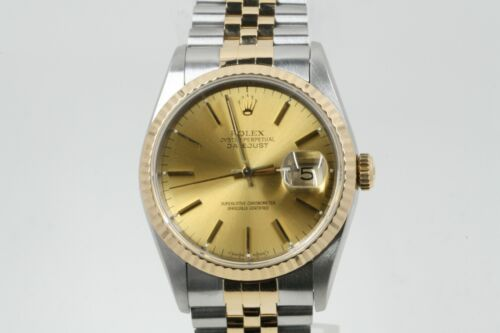 Rolex Datejust 36mm Model 16233 Champagne Index Dial