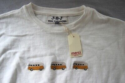 Jupe by Jackie hand embroidered t-shirt organic cotton size RRP £80