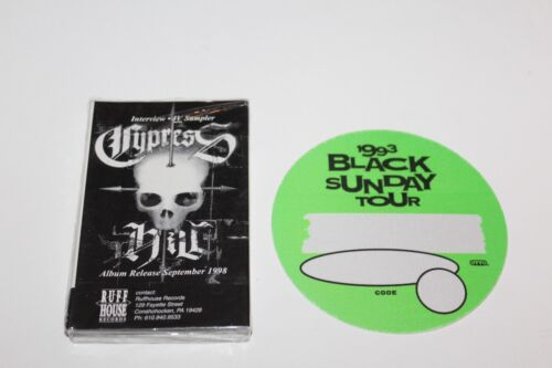 Cypress Hill - Cassete Promo Sealed / IV Album interviews + Backstage Pass