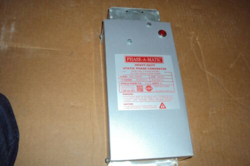 PHASE-A-MATIC PAM-1200HD Phase Converter, Static, 208-245 Input/OUTPUT V , 33.6A