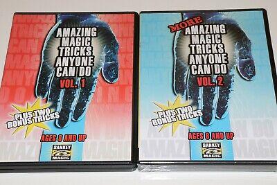 Amazing Magic Tricks Anyone Can Do Vol. 1 & Vol.2! BOTH DVD'S NEW! FREE SHIPPING Dvd Amazing Magic Tricks