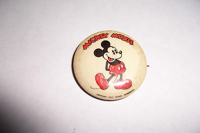Vintage Walt Disney Enterprises Disney Mickey Mouse Pinback Button Pin