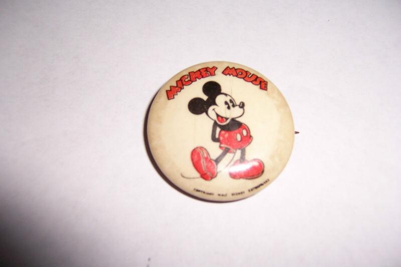 Vintage Walt Disney Enterprises Disney Mickey Mouse Pinback Button Pin