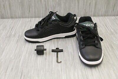 Heelys Voyager HE100330 Wheeled Skate Shoes, Big Kids Size 6, Black