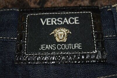 NEW MEN VERSACE COUTURE MADE ITALY BY ITTIERRE DENIM  BLUE W34 L48 NEW (W)