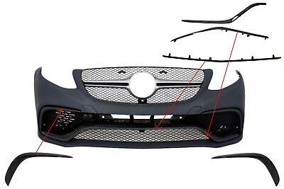 Spoiler Splitter Klappen Verzierung Abdeckung Schwarz für Mercedes C292 15-18