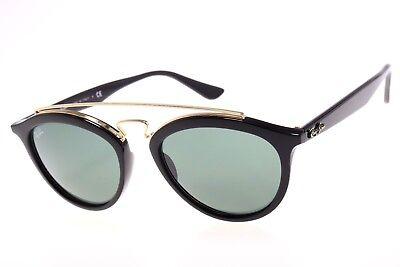 Ray-Ban Gatsby II Sunglasses RB4257 601/71 Black Frame W/ Green Classic Lens
