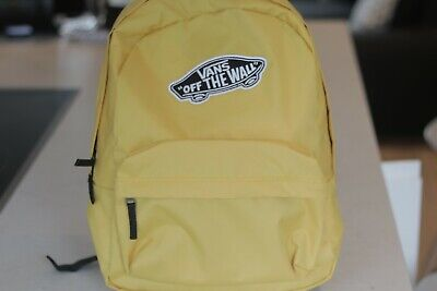 Vans Backpack Bag Black and Bright Yellow