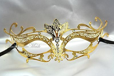 Womens Masquerade Ball Mask Sexy Fantasy Laser Filigree Halloween Costume Party