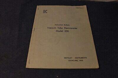 Vintage Vacuum Tube Electro Meter 200 Manual Keithley Bell Labs Manual