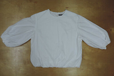 NICO nicholoson & nicholson White Puff Sleeves Body Pullover Blouse 38 Japan (Nico Sleeves)