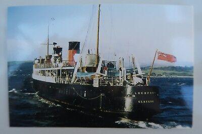 MV LOCHFYNE MACBRAYNE LTD SCOTTISH POSTCARDS Colour Unused vgc