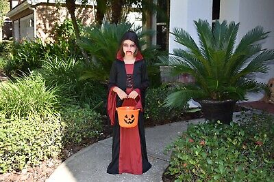 10 Year Old Costumes (Vampire Halloween Girl Costume 10 Years)