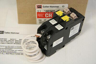 Cutler-hammer Ch215afit Arc Fault Circuit Breaker 15a 2 Pole 120v New In Box