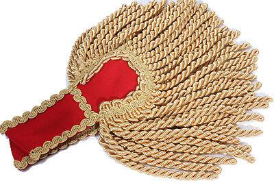 Grosse Schulterklappen Epauletten Gehrock Karnevalskostüm Karneval rot - Schulterklappen Kostüm