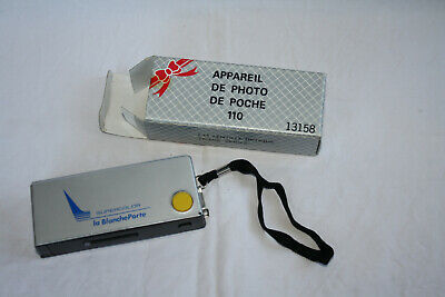 appareil photo de poche 110 pub blanche porte dans sa boite +...