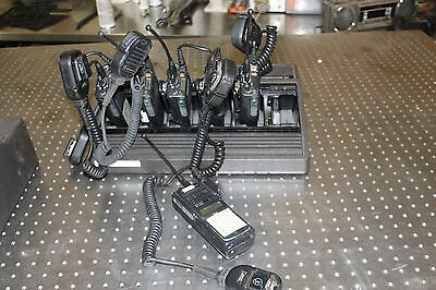 Set Of 6 Motorola Mts2000 Flashport Radio With Mic And Charger H01ucd6pw1bn