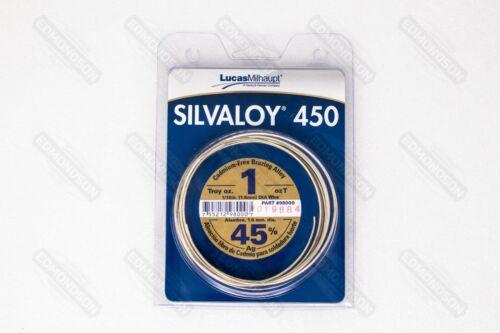 Lucas Milhaupt 98000 SILVALOY 450, 45% Silver, 1 Troy Oz.