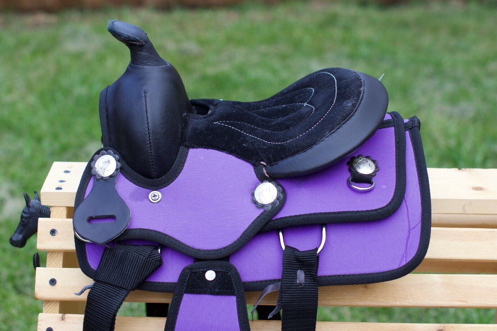 "8"" Western Kids Trail Saddle-Cordura-PURPLE"
