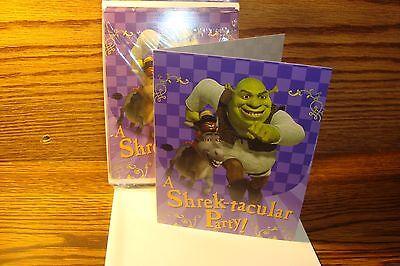 Hallmark #8 ct SHREK Theme Party Birthday Halloween party Invitations - Halloween Themed Invitations