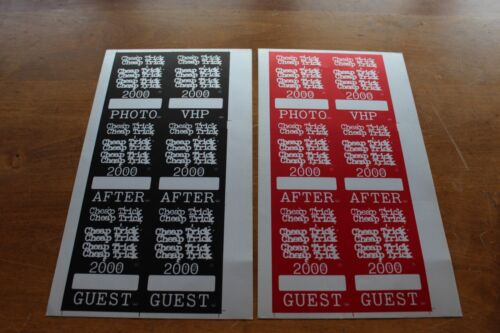 CHEAP TRICK  - 2 X Backstage Pass Proof Sheet - VERY RARE