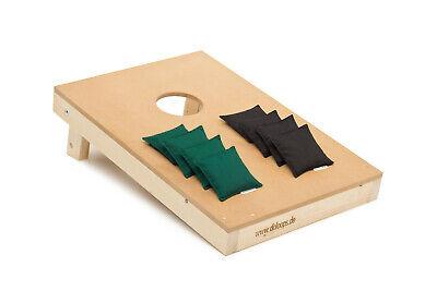 Original Cornhole Set  -  Spielset mit 1 Board + 4 schwarze und 4 grüne