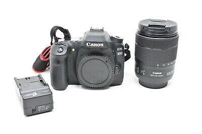 Canon EOS 80D 24.2 MP DSLR Camera -W/EF-S 18-135mm Nano USM Lens-Only 983 Clicks