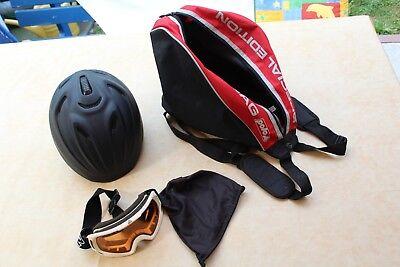 Skibrille von K2 und -helm Tchibo Modell: 268146 gebrauchter Zustand inkl. Tasch