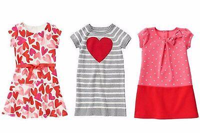 NWT Gymboree and Crazy 8 Valentine Girls' Dresses U-Pick Size: 7, 7/8](Girls Valentine Dresses)