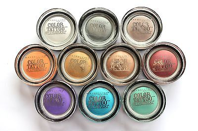 MAYBELLINE COLOR TATTOO 24 HR EYE SHADOW PLEASE SELECT SHADE FROM MENU