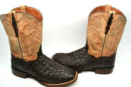 Dan, Post, Mens, CHOCOLATE, 12, D, DENVER, Cowboy, Boot, EXOTIC, Caiman, 2806, Square, TOE