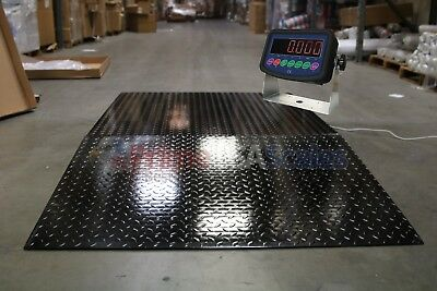 5x5 Floor Pallet Scale 5000 Lb With 60 X 30 Ramp For Pallet Jack