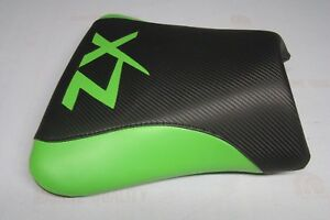 KAWASAKI  ZX9R 2002/2003  BLACK/GREEN CUSTOM FRONT & REAR SEAT COVERS NINJA ZX9