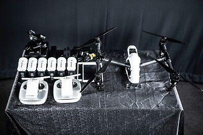 Dji Inspire 1 Raw Quadcopter W Zenmuse X5r 4K Camera  3 Axis Gimbal   Extras