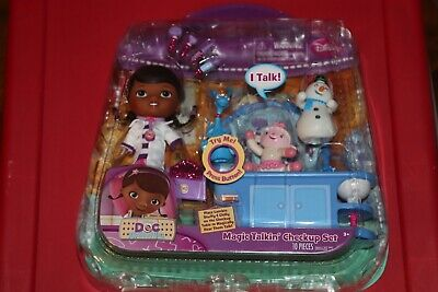 Doc Mcstuffins Set (Disney Doc McStuffins Magic Talking Checkup Set NEW Figures Disney Junior)