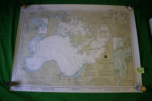 Minnesota Border Lakes - Lake of the Woods 37x27 Vintage 1990 Nautical Chart/Map