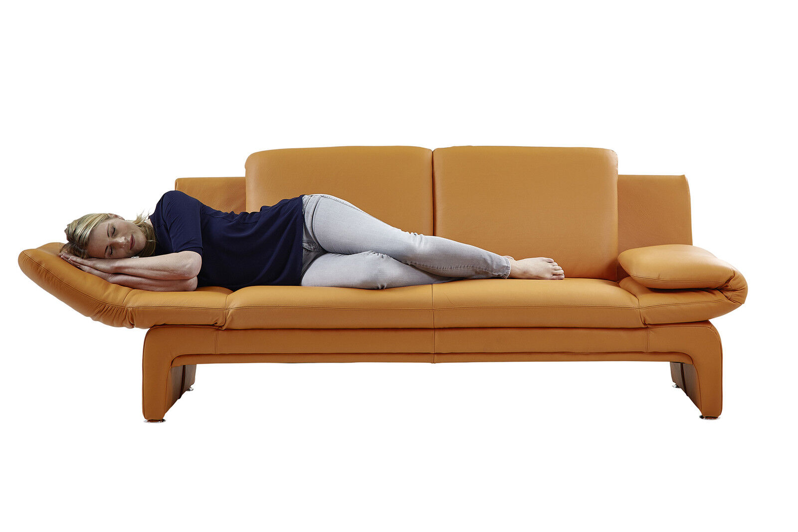 Echt dick leder sofa couch garnitur funktionssofa capri 2 for Sofa garnitur