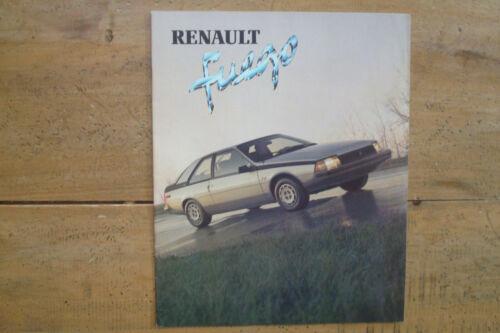 1982 Renault Fuego Brochure.