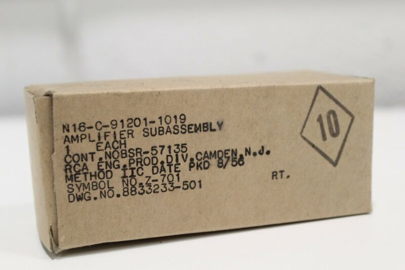 New RCA N16-C-91201-1019 Sub-Assembly Amplifier Z-701 8833233-501 + Priority S/H