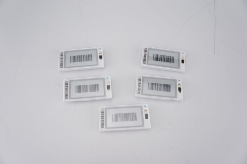 (5) New Pricer Smart Tag HD M+ Freezer Digital Price Shelf Label SmartFLASH NFC