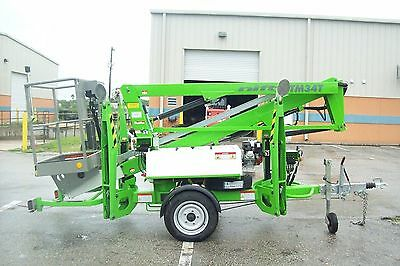 Nifty Tm34t 40 Boom Lifthydraulic Outriggers20outreachbattery Powered