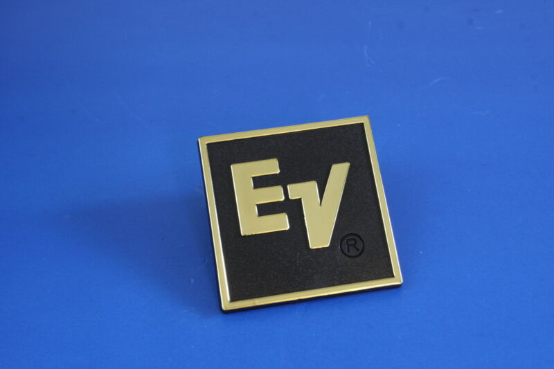 For Replacement EV Plastic Logo Badge - Golden Text