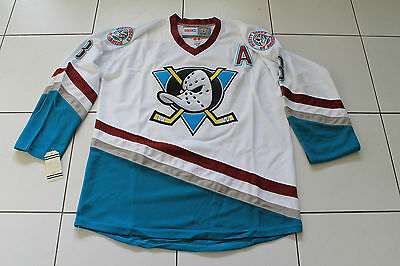 "NHL JERSEY MIGHTY DUCKS OF ANAHEIM SELANNE SHIRT ICE HOCKEY SIZE LARGE 50"" NEW"