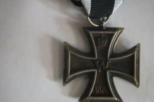 "1870 Germany Iron Cross Second Class Medal award RARE ""Eisernes Kreuz 2. Klasse"""