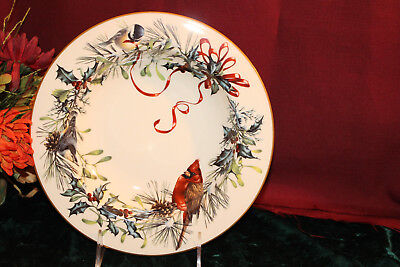 Lenox Winter Greetings Pasta Rim Soup Bowl NEW USA